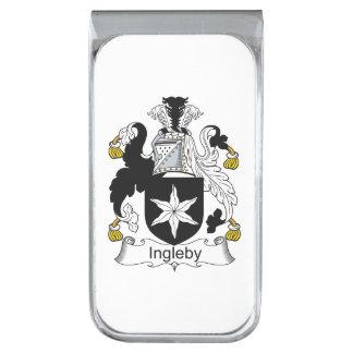 Escudo de la familia de Ingleby Clip Para Billetes Plateado