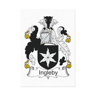 Escudo de la familia de Ingleby Lona Envuelta Para Galerías