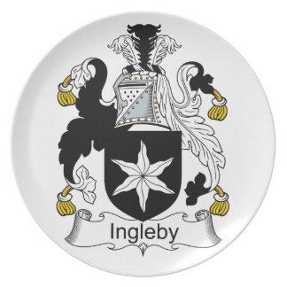 Escudo de la familia de Ingleby Plato De Comida