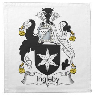 Escudo de la familia de Ingleby Servilleta