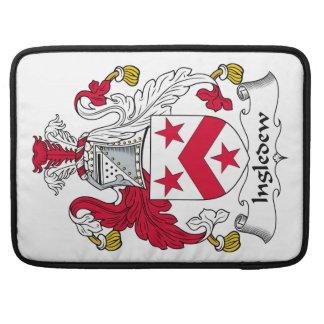 Escudo de la familia de Ingledew Fundas Para Macbook Pro