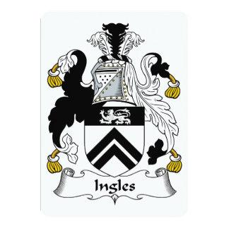"""Escudo de la familia de Ingles Invitación 5"""" X 7"""""""
