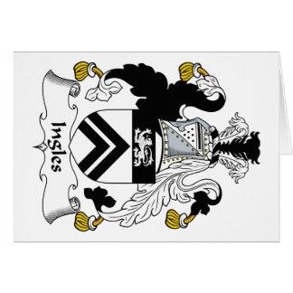 Escudo de la familia de Ingles Tarjeta De Felicitación