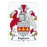 Escudo de la familia de Ingram Invitación 12,7 X 17,8 Cm