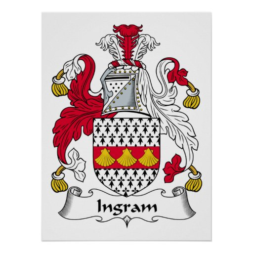 Escudo de la familia de Ingram Póster