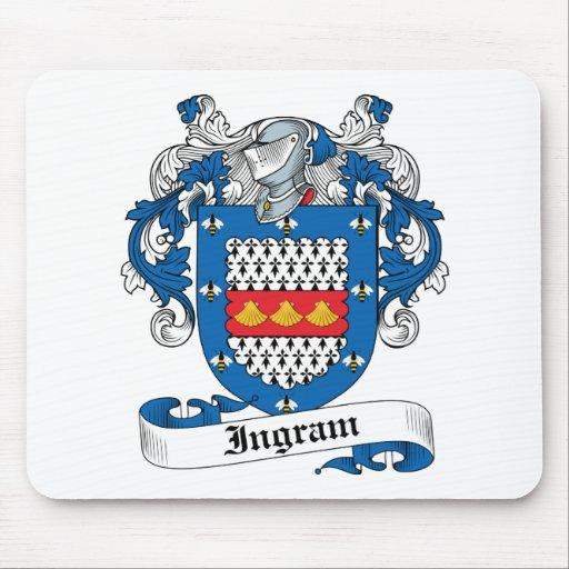 Escudo de la familia de Ingram Alfombrilla De Ratón