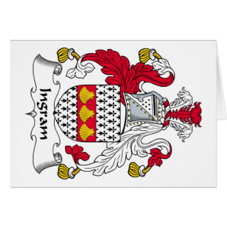 Escudo de la familia de Ingram Tarjeta De Felicitación