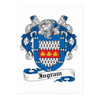 Escudo de la familia de Ingram Tarjetas Postales