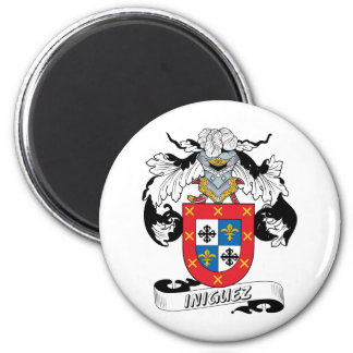 Escudo de la familia de Iniguez Imán Redondo 5 Cm