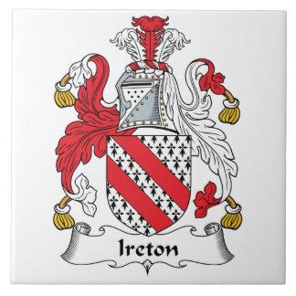 Escudo de la familia de Ireton Azulejo Cerámica