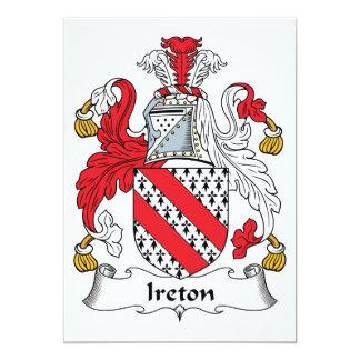 Escudo de la familia de Ireton Invitación 12,7 X 17,8 Cm