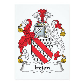 """Escudo de la familia de Ireton Invitación 5"""" X 7"""""""