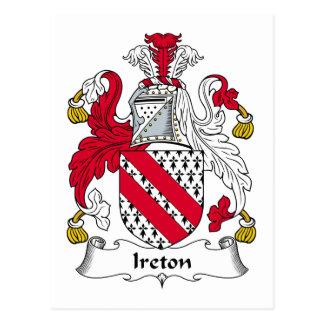 Escudo de la familia de Ireton Postal