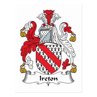 Escudo de la familia de Ireton Postales