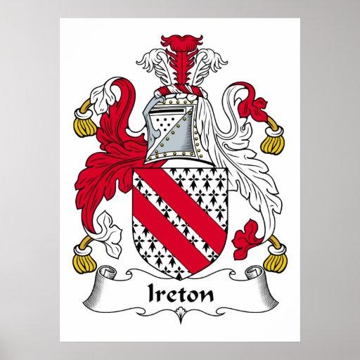 Escudo de la familia de Ireton Póster
