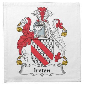 Escudo de la familia de Ireton Servilleta