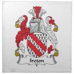 Escudo de la familia de Ireton Servilleta De Papel