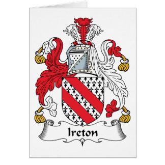Escudo de la familia de Ireton Tarjeta De Felicitación