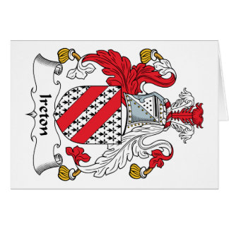 Escudo de la familia de Ireton Tarjeton