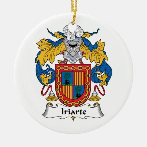 Escudo de la familia de Iriarte Adorno Navideño Redondo De Cerámica