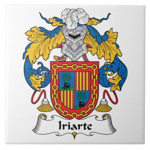 Escudo de la familia de Iriarte Tejas Ceramicas