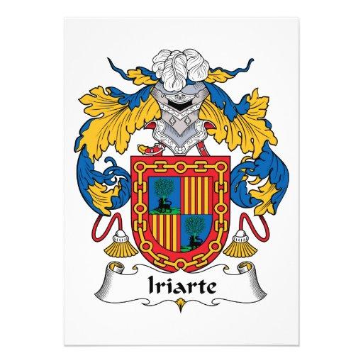 Escudo de la familia de Iriarte Invitaciones Personales