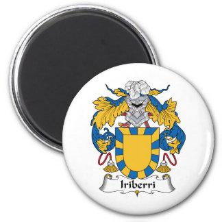 Escudo de la familia de Iriberri Imán Redondo 5 Cm