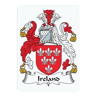 """Escudo de la familia de Irlanda Invitación 5"""" X 7"""""""