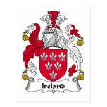 Escudo de la familia de Irlanda Postal