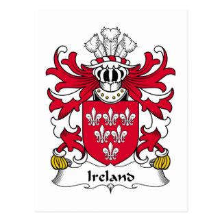 Escudo de la familia de Irlanda Postales