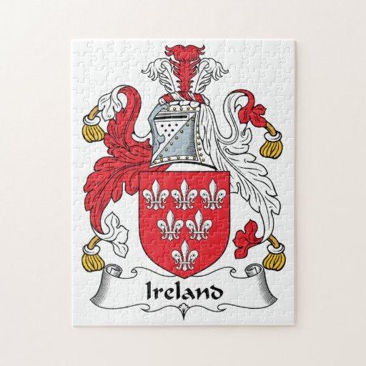 Escudo de la familia de Irlanda Puzzle