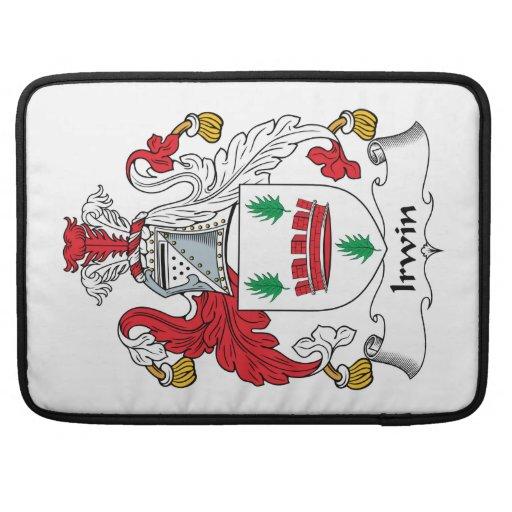 Escudo de la familia de Irwin Fundas Para Macbooks