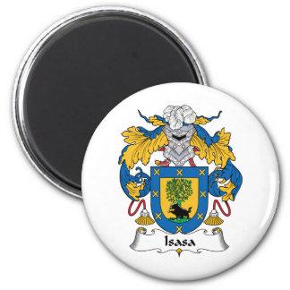 Escudo de la familia de Isasa Imán Redondo 5 Cm