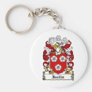 Escudo de la familia de Iselin Llavero Redondo Tipo Pin