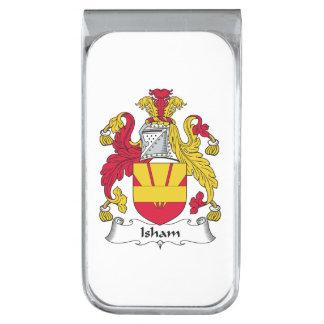 Escudo de la familia de Isham Clip Para Billetes Plateado