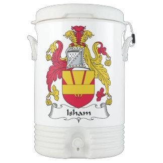Escudo de la familia de Isham Enfriador De Bebida Igloo
