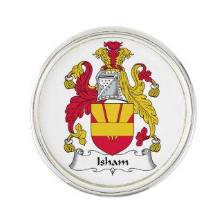 Escudo de la familia de Isham Insignia