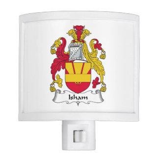 Escudo de la familia de Isham Lámparas De Noche