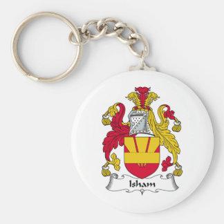 Escudo de la familia de Isham Llavero Redondo Tipo Pin