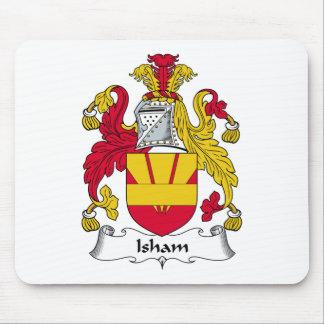 Escudo de la familia de Isham Mouse Pads