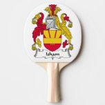Escudo de la familia de Isham Pala De Tenis De Mesa