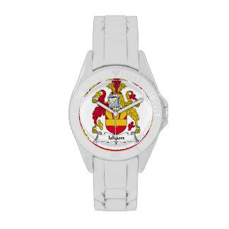 Escudo de la familia de Isham Reloj De Mano