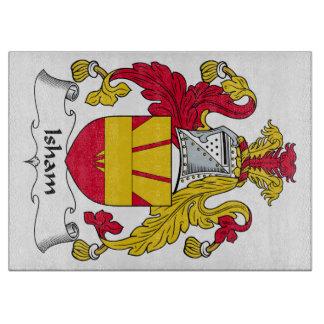 Escudo de la familia de Isham Tabla Para Cortar