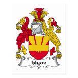 Escudo de la familia de Isham Tarjeta Postal