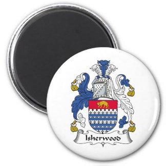 Escudo de la familia de Isherwood Imán Redondo 5 Cm