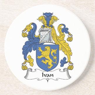 Escudo de la familia de Ivan Posavasos Para Bebidas