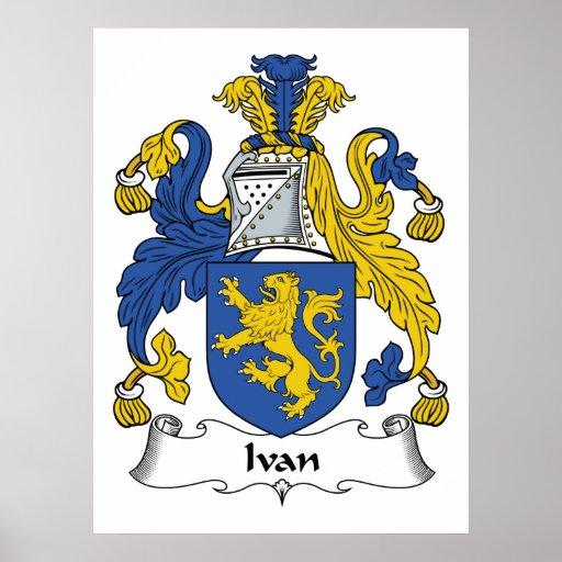 Escudo de la familia de Ivan Posters