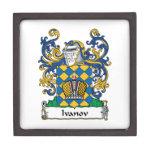 Escudo de la familia de Ivanov Cajas De Recuerdo De Calidad