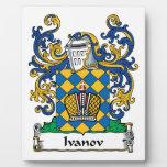 Escudo de la familia de Ivanov Placa