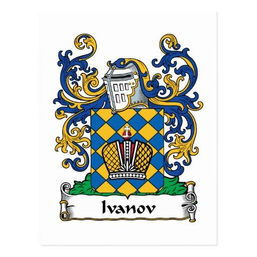 Escudo de la familia de Ivanov Postal